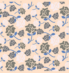 pale rose pink and grey floral pattern seamless vector image