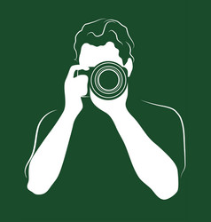 Photographer with the camera icon profession vector