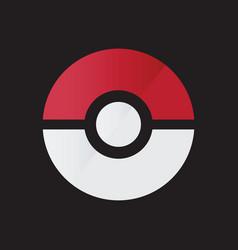 Pokemon logo icon template vector