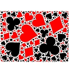 Poker card suits background vector image