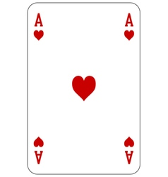 Poker playing card Ace heart vector