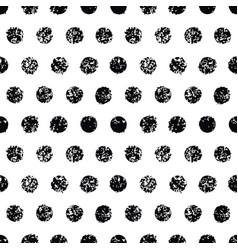 polka dot seamless pattern grunge texture vector image