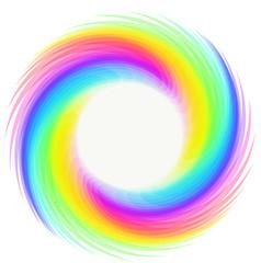 Rainbow whirlwind design element on white vector