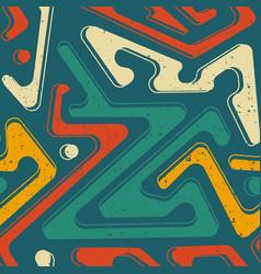 Retro green color geometric pattern vector