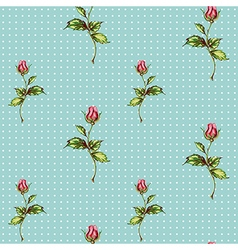 rose pattern in blue vector image
