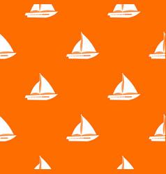 Sailing yacht pattern seamless vector