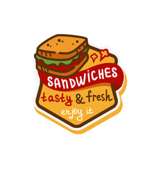 Sandwich logo icon vector