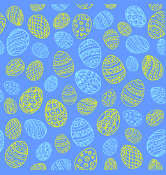Seamless background to easter with eggs 4 vector