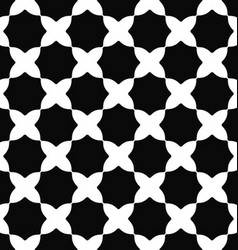 Seamless black and white curved octagon pattern vector