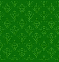 Seamless green floral pattern for background vector