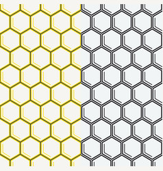 seamless honeycomb pattern geometric background vector image