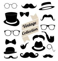 Set collection vintage fashion elements vector