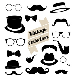Set of collection vintage fashion elements vector