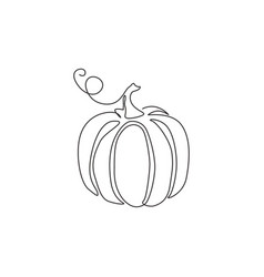single continuous line drawing whole big round vector image
