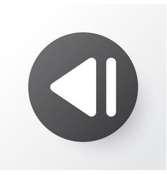 Slow backward icon symbol premium quality vector