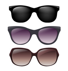 sunglasses set vector image