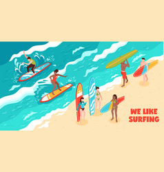 Surfing horizontal vector