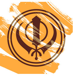 Symbol of the sikhs khanda vector