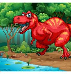 T-rex walking in jungle vector