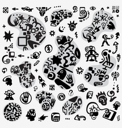 technology abstract symbols vector image