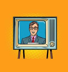 tv news anchor vector image