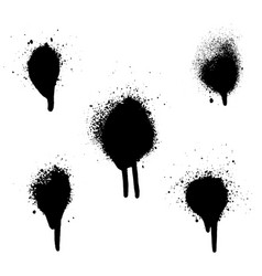 various spray paint graffiti decorative splatters vector image