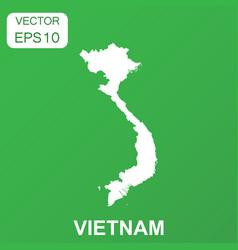Vietnam map icon business concept vietnam vector