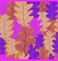 violet leaves pattern vector image