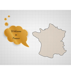 Welcome to france vector