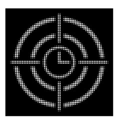 white halftone time target icon vector image