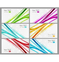 Abstract coplor lines banner vector image