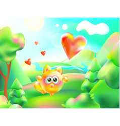 colorful nature cartoon vector image