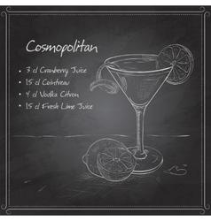 Cosmopolitan on black board vector image vector image