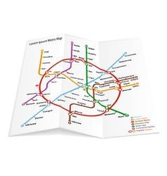 metro map icon vector image