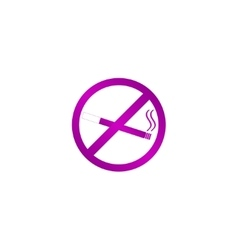 No smoking sign isolated vector image