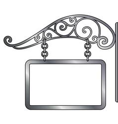 old metal signboard vector image vector image