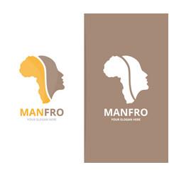 africa and face logo combination safari vector image vector image