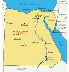 Arab Republic of Egypt - map vector image