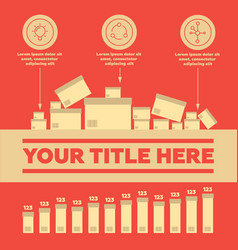 delivery elements and bar chart vector image vector image