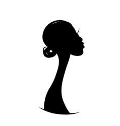 Female portrait sketch for your design vector image
