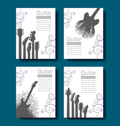 four abstract guitar backgrounds to choose from vector image