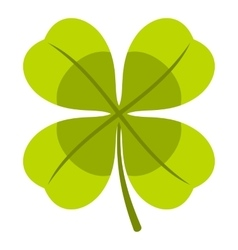 Clover icon flat style vector image vector image