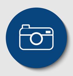 digital photo camera sign white contour vector image vector image