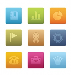 office icons square vector image vector image