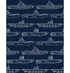 seamless pattern with submarines vector image vector image