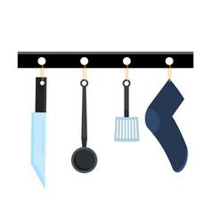 abstract creative funny cartoon kitchen appliances vector image vector image