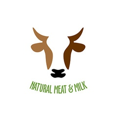 Cow head logo vector image vector image
