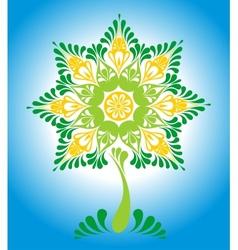 Decorative ornamental fairy tree vector image vector image