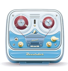 Old tape recorder vector image