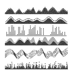 sound waves classic melody sound wave from vector image